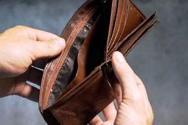 Пустой бумажник - правильно рассчитать платеж