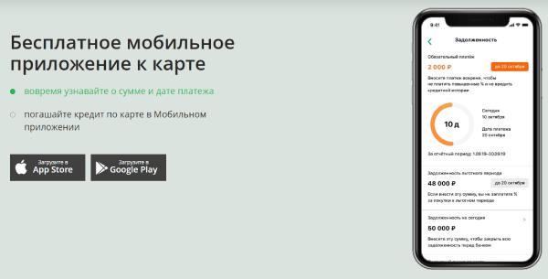 Мобильное приложение к классической кредитной карте Сбербанка