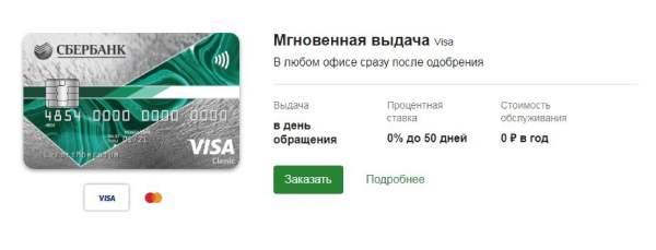 Условия пользования кредитной картой «Моментум» от Сбербанка