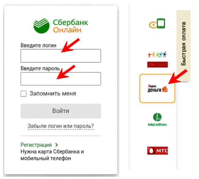 Перевод с Яндекс Кошелек через Сбербанк Онлайн