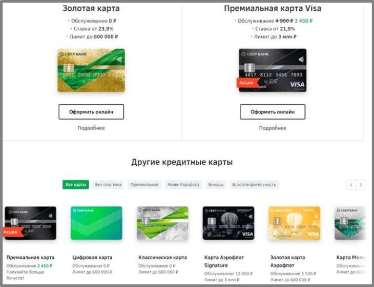 проценты за оплату кредита кредитной картой Сбербанка